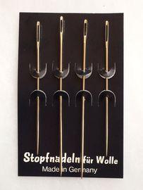4 Stopfnadeln Wollnadel für Wolle Garn usw. 9 & 7 cm  - Made in Germany-