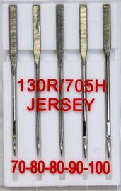 5 Nähmaschinennadeln Flachkolben 130/705 Jersey