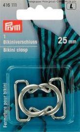 Bikiniverschluß metall    25 mm silber farbig  Bikini Verschluß Prym 416111
