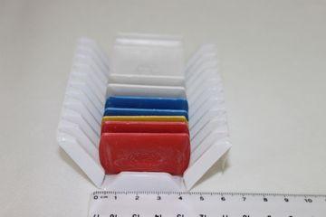 Schneiderkreide farbig 10 Stück (5 x weiß 2x Blau 2x Rot 1x Gelb)