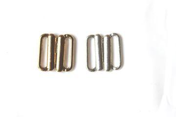 Bikiniverschluß 15 mm  Bikiniverschlüsse Bikinni  metall silber gold 85204