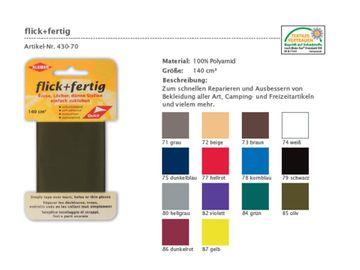 Flick + Fertig Reparatur Klebeflicken 100% Nylon Flicken zum Kleben und Bügeln