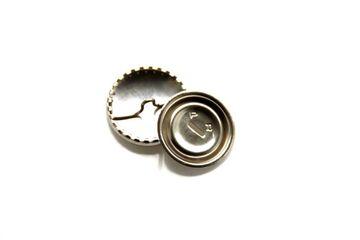 Überziehbare Knöpfe 1 Stück 19 mm ohne Werkzeug