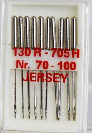 10 Nähmaschinennadeln Flachkolben 130/705 Jersey