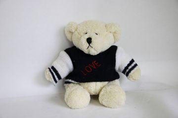 niedliches Plüschtier 18 cm Teddy mit Pullover Love Kindertag Geburtstag Plüschteddy