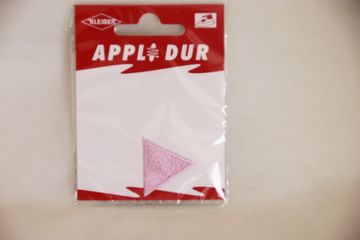 Applikation Dreieck 2,5 x2,5 cm Rosa Aufbügler Patches Flicken