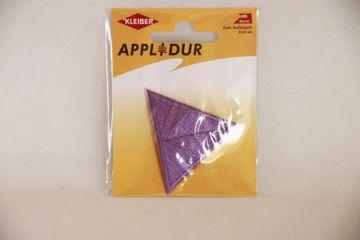 Applikation Dreieck Flieder 5x5 cm Aufbügler Patches Flicken