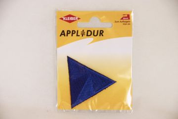 Applikation Dreieck blau 5x5 cm Aufbügler Patches Flicken