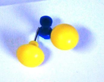 10 grosse Pinnwandnadel gelb 17 x 16 mm Makiernadeln Kartennadel push Pin