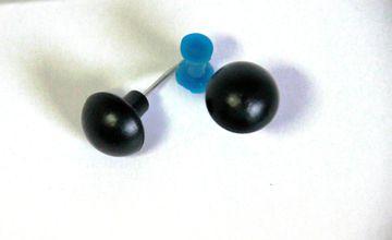 10 grosse stabile  Pinnwandnadel schwarz 17 x 31 mm Makiernadeln Kartennadel push Pin