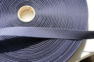 1m  Qualitäts Nahtband Köperband stabil 100 % Baumwolle 2cm breit marine blau -Made in Germany-