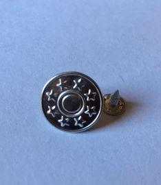 100 Nähfrei Jeansknöpfe Messing silber 8Sterne 17 mm Ersatzknopf
