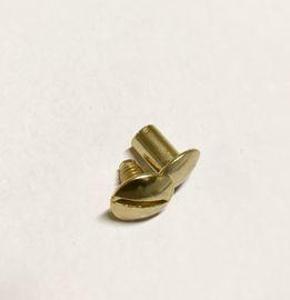 10 Qualitäts Gürtelschraube, Buchschraube 8 mm Schraubniete gold