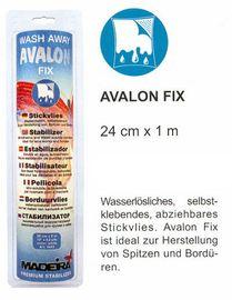 1 m Avalon Fix, 27,5 cm breit, wasserlösliche Stickvlies von Madeira, sticken + nähen