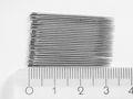 25 Nähnadeln halblang Stahl  silberfarbig 0,78mm 33mm Made in Germany