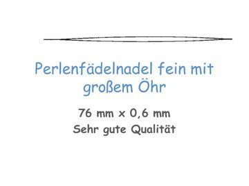 1 Perlennadel Fädelnadel grosses Öhr 76 mm Nadeln Aufreihnadel Fädelnadel  top Qualität