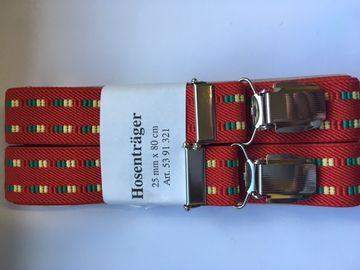 neueste Art von Mode-Design vollständig in den Spezifikationen Hosenträger rot gemustert für Kinder 4 Clipse 80 cm lang ...