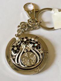 Handtaschenanhänger,peace,blume schwarz Tisch Garderobe Schlüsselanhänger Handtaschenaufhänger