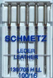5 Schmetz  Nähmaschinennadeln Leder 100er Flachkolben 130/705