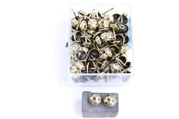 100 Qualitäts Ziernägel Polsternägel Nagel - Made in Germany- 11mm Oxfort