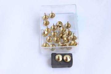 25 Qualitäts Ziernägel Polsternägel Nagel - Made in Germany- 11mm gold