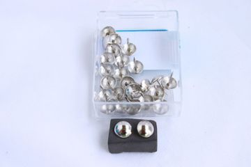 25 Qualitäts Ziernägel Polsternägel Nagel - Made in Germany- 11mm silber