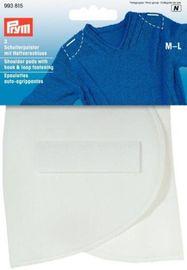 Schulterpolster Halbmond Haftverschluß PA M-L weiß