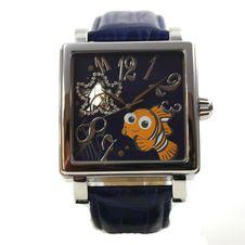 disney-montre-montre-pour-homme-montre-automatique-cuir-bracelet-nemo-romain-strass-cartoon-montre