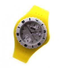 blog-unisex-bracelet-montre-quartz-jaune-blanc-lunette-tournante-avec-scale-des-minutes-cadran-nacre-silicone