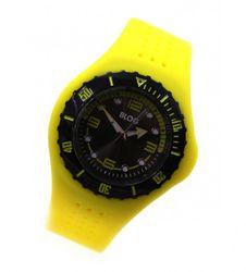 blog-unisex-bracelet-montre-quartz-jaune-noir-lunette-tournante-avec-scale-des-minutes-cadran-anthrazit-silicone