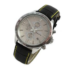 lindberg-sons-chronograph-date-round-men-s-bracelet-wristwatch-white-bracelet-leather-ls-3001