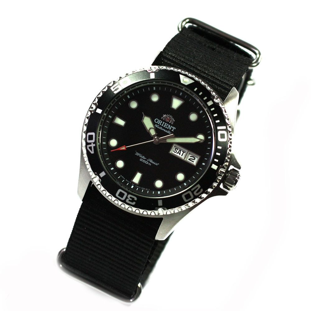 orient ray ii deep black diver herrenuhr automatikuhr. Black Bedroom Furniture Sets. Home Design Ideas
