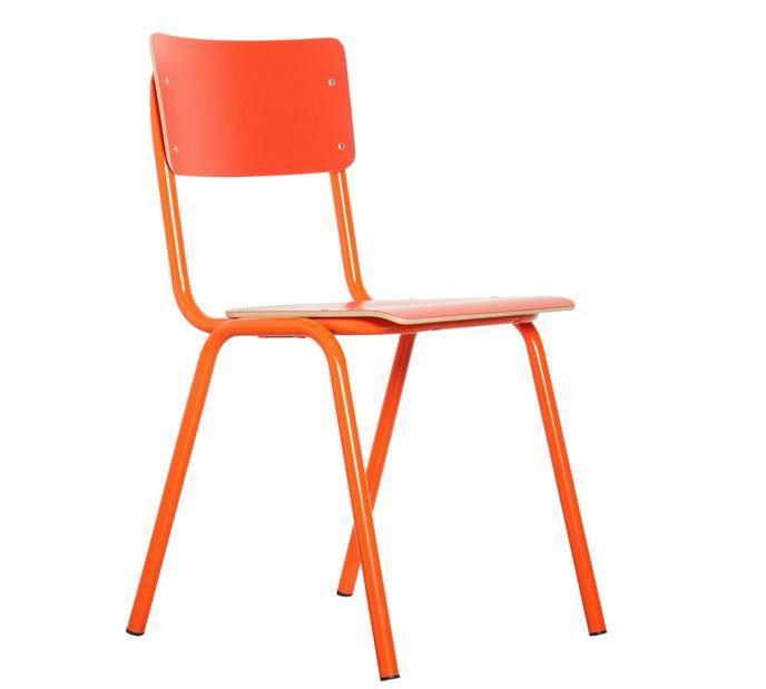 Zuiver Stuhl Back to School HPL Orange