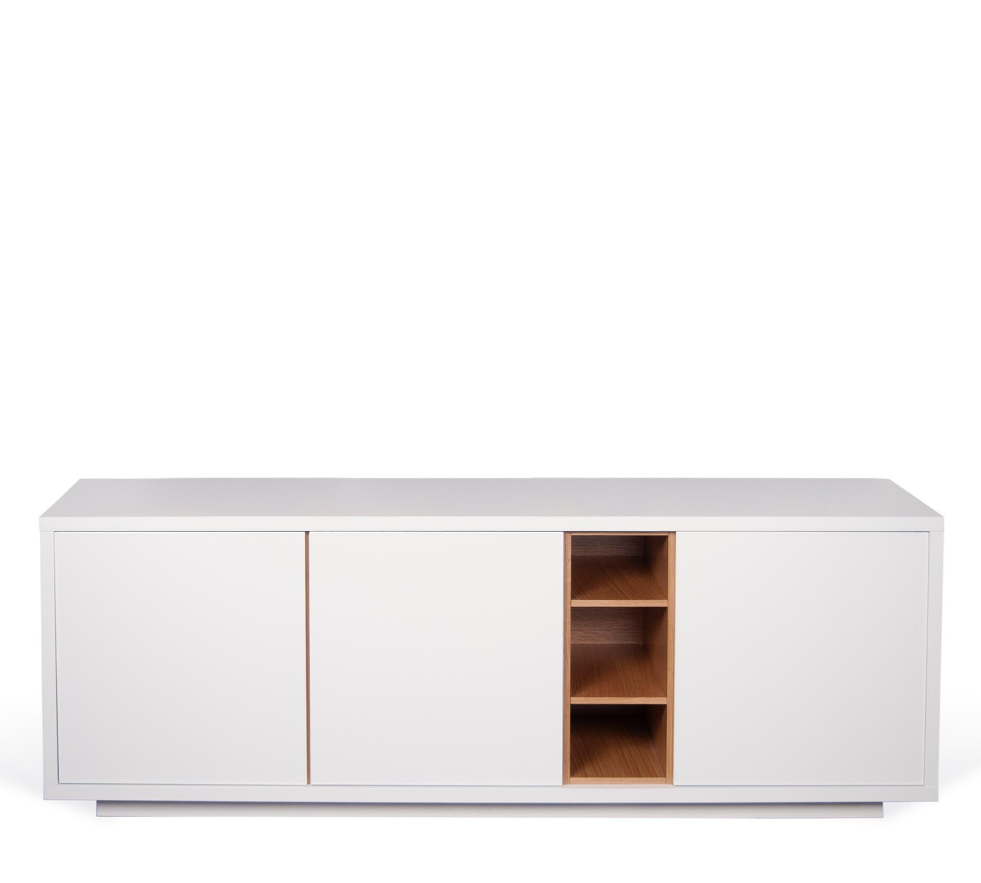 TemaHome Sideboard Niche Pure White/Eiche mit 3 Türen