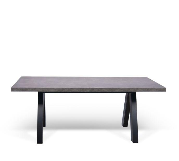 TemaHome Apex Ausziehtisch 200/270x100cm   Concrete / schwarz   - Betonoptik