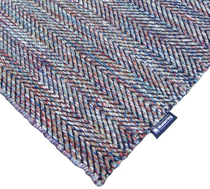 Musterring Handwebteppich FLATWEAVE Ripples  03 multi 160x230cm  – Bild 3