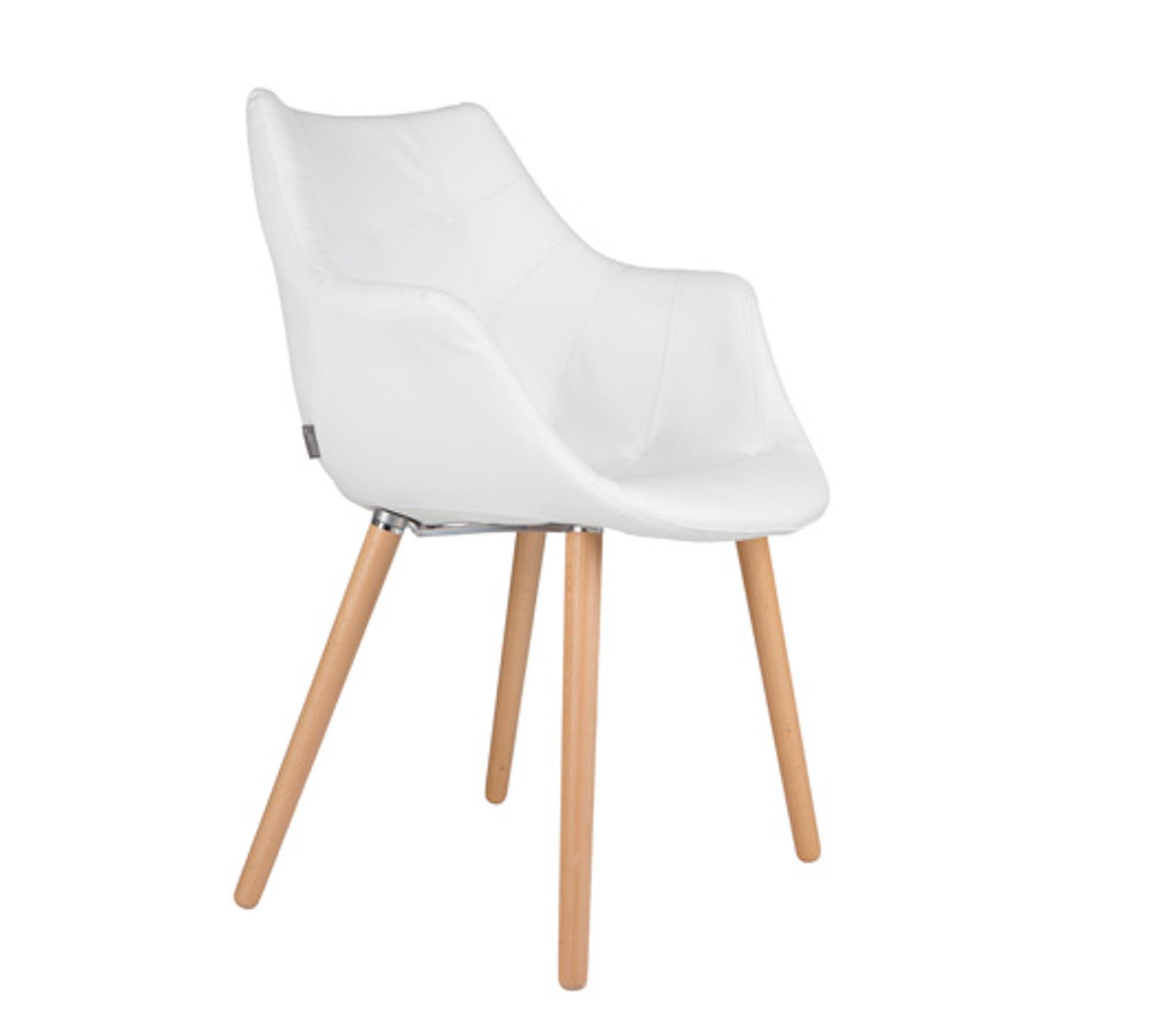 zuiver stuhl twelve patchwork kunstleder wei 10007975. Black Bedroom Furniture Sets. Home Design Ideas