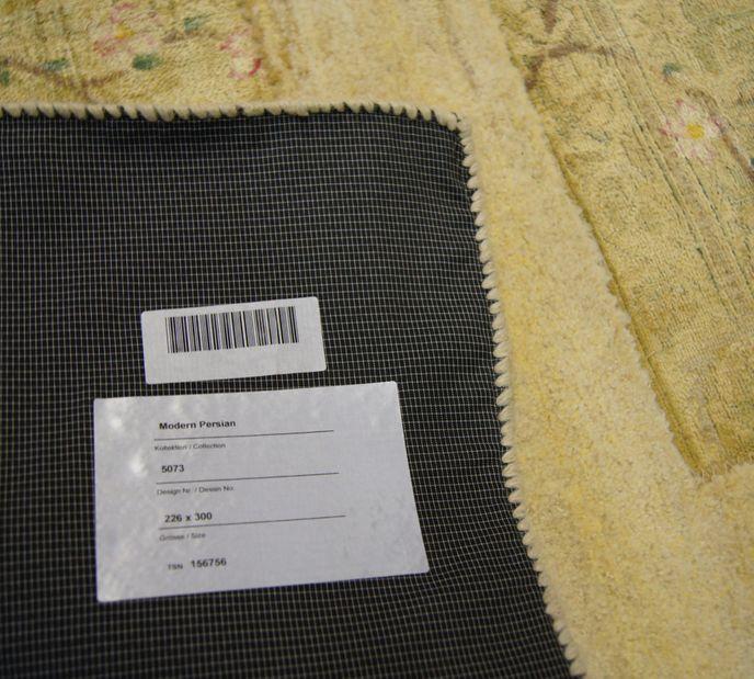 Vintage Carpets 226x300cm Patchwork Teppich persisch handgeknüpft beige – Bild 6