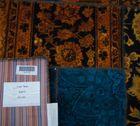 Vintage Carpets 147x210cm Persian Patchwork Teppich handgeknüpft orange / petrol – Bild 6