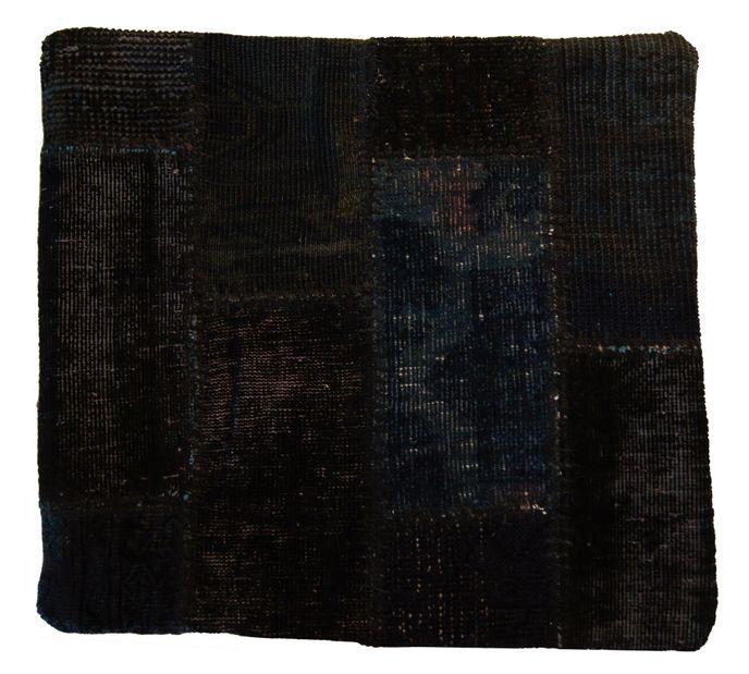 Vintage Carpets Kissenhülle 50x50cm Persischer Teppich Patchwork dunkel