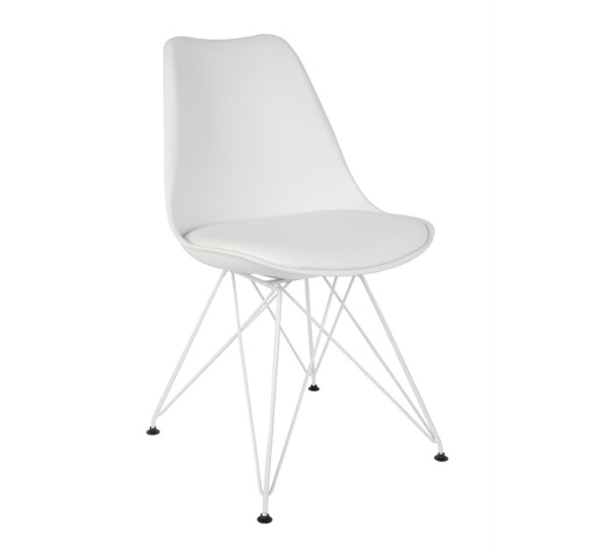zuiver stuhl ozzy wei mit metallgestell im 2er set 10008301. Black Bedroom Furniture Sets. Home Design Ideas