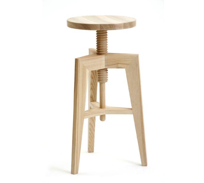 Mint Design SCREW Hocker M1300 hohe Version aus Massivholz – Bild 4