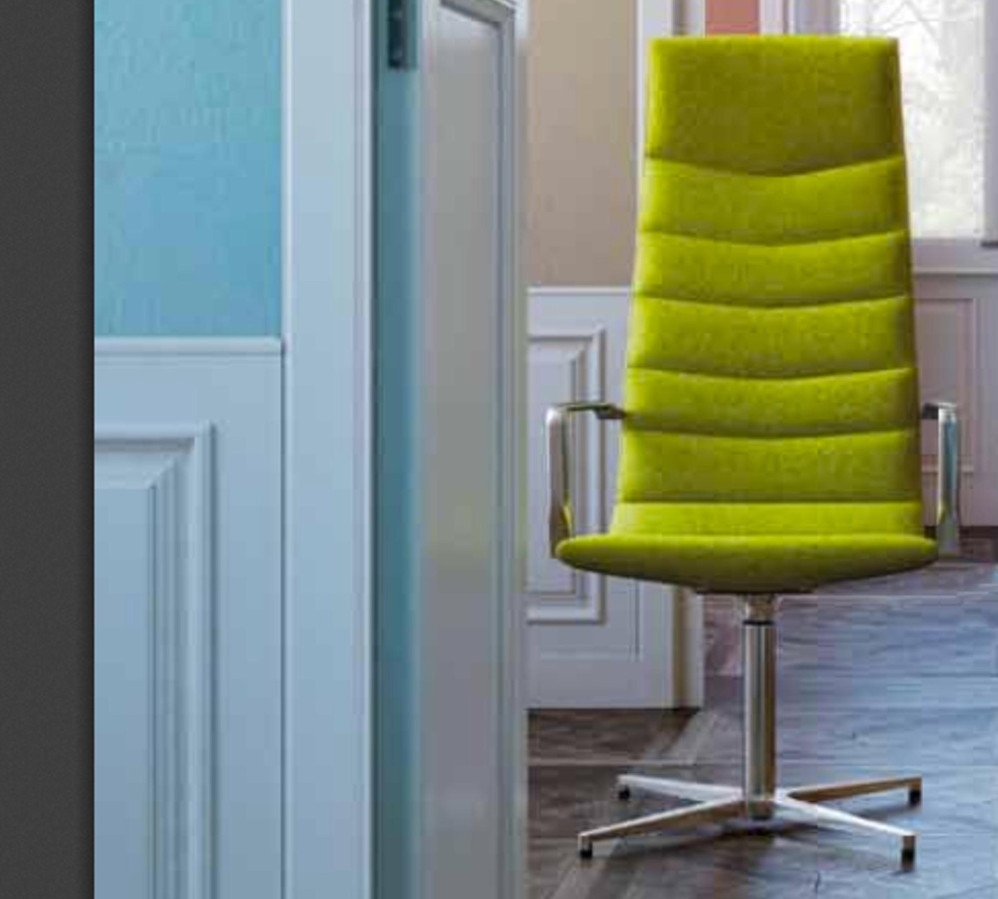 Gabler Premium Designer Stuhl Shine High Drehbar Bezug Echt Leder