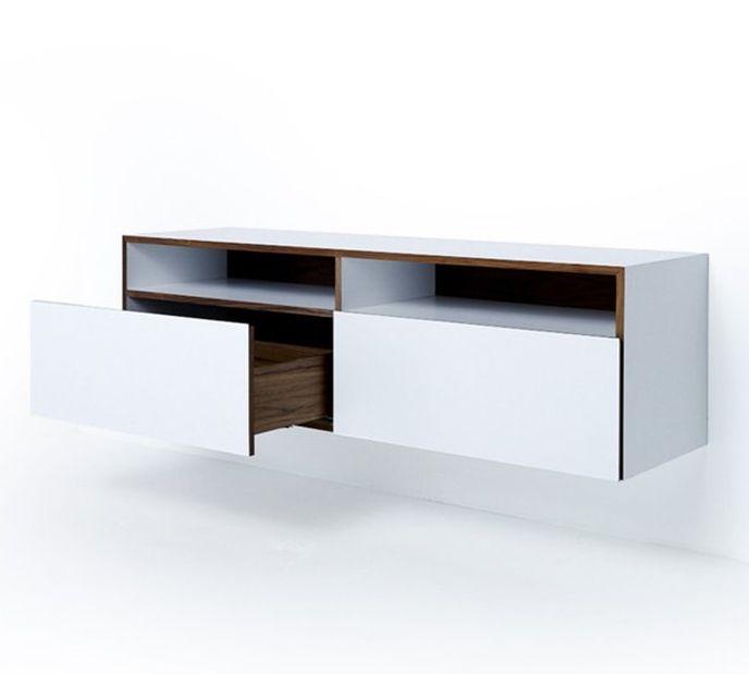 Mint Design M1200 Sideboard zur Wandmontage mit Echtholz und ABET-Laminat