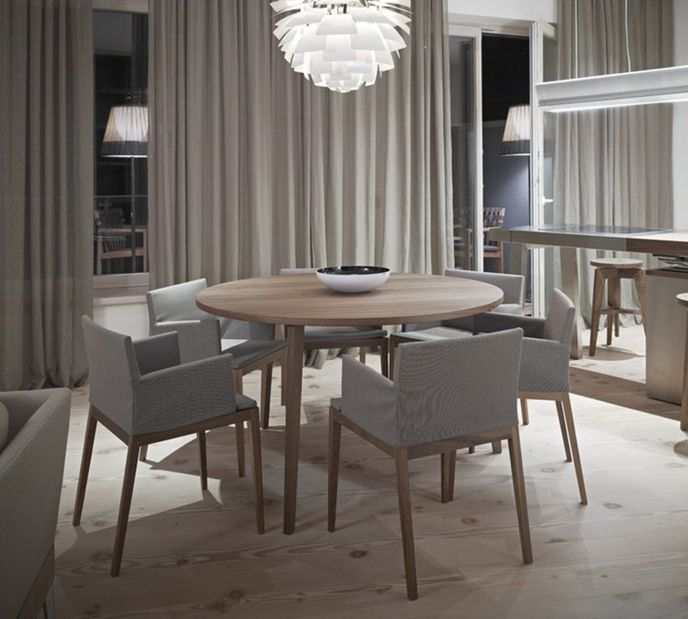 """Mint Design Tisch """"TABLE"""" aus Massivholz D130 cm rund – Bild 3"""
