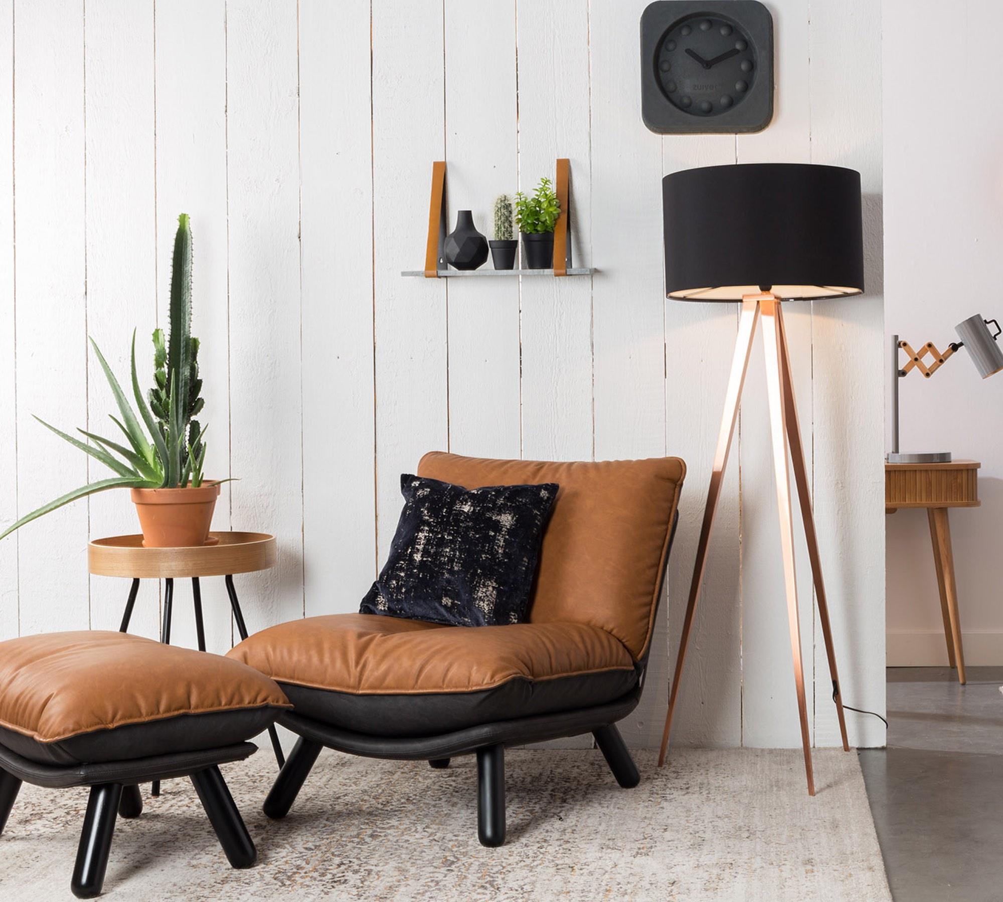 Lounge sessel braun  Zuiver Sessel LAZY SACK Kunstleder Vintage braun 10008679