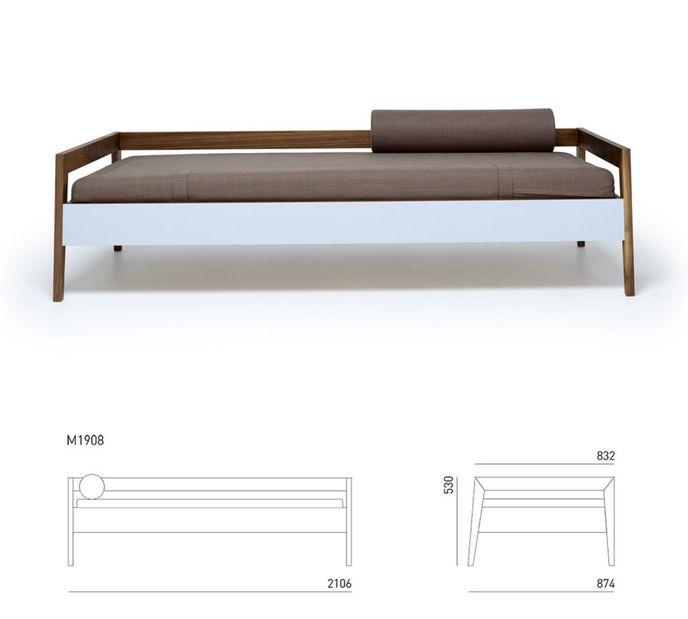MintDesign Daybed M1908 - Tagesbett aus Massivholz 210x87cm – Bild 5