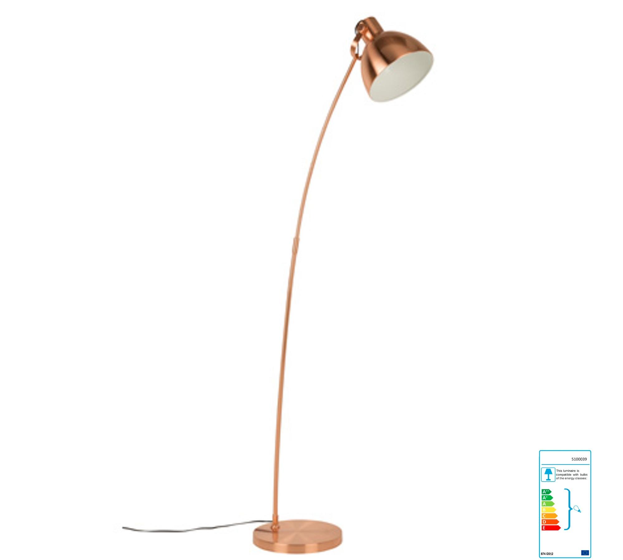 Geräumig Stehlampe Kupfer Foto Von Zuiver Stehleuchte H 001