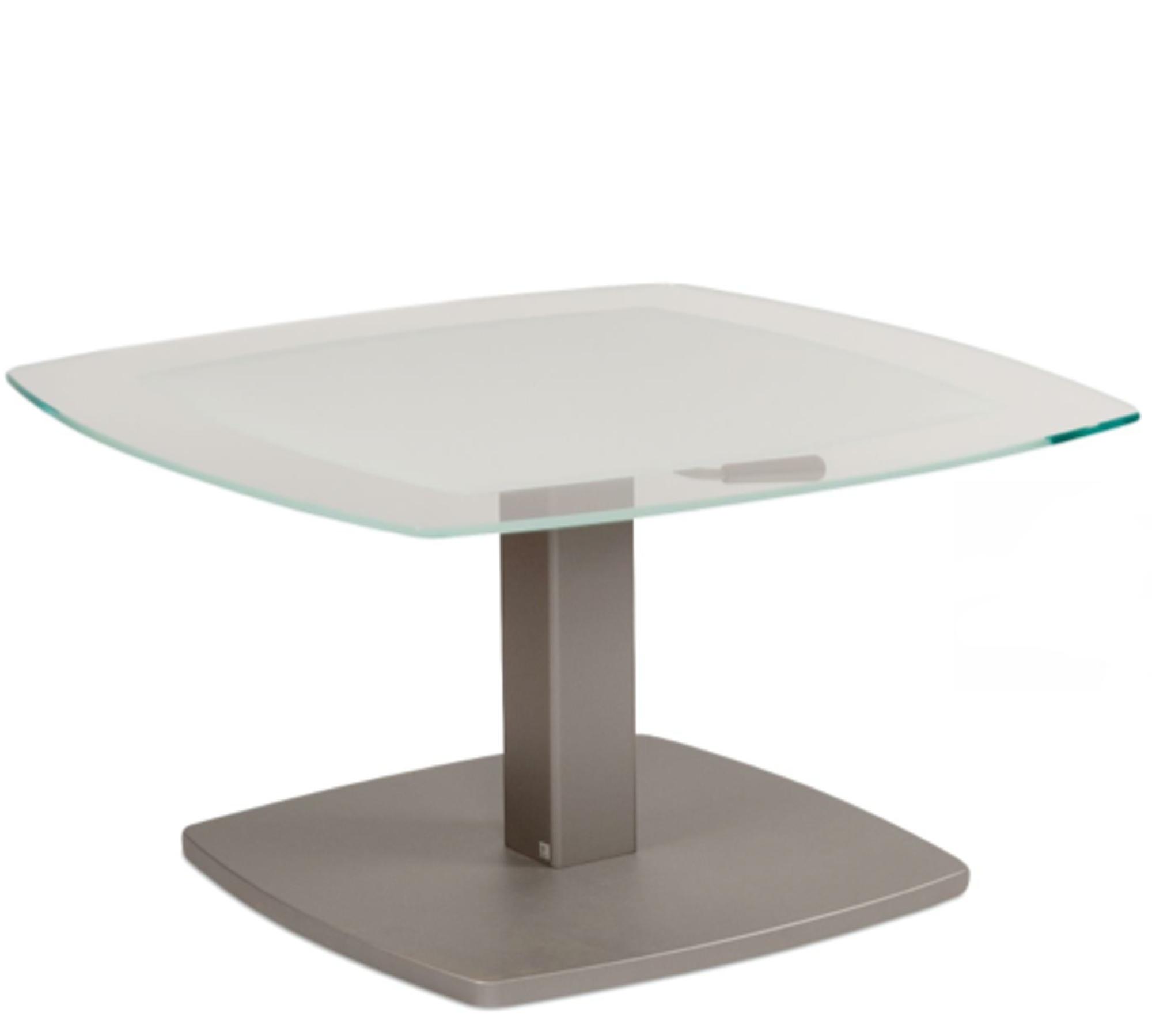Attraktiv Höhenverstellbarer Beistelltisch Ideen Von Couchtisch Aus Glas 2396-psb Höhenverstellbar 80x80 Cm