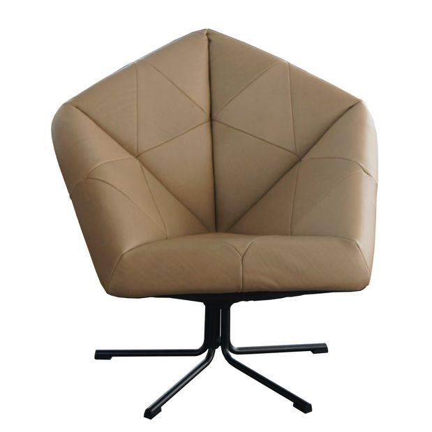 Machalke Sessel ZAC Leder beige – Bild 2